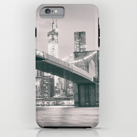 Brooklyn Bridge and New York City Skyline iPhone & iPod Case by Vivienne Gucwa