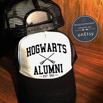 Hogwarts Alumni Hats Hogwarts Caps Harry Potter Hats Trucker Hat