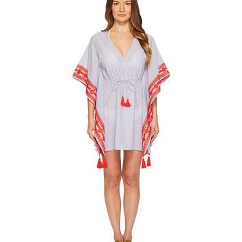 Tory Burch Swimwear Ravena Beach Caftan Top Cover-Up