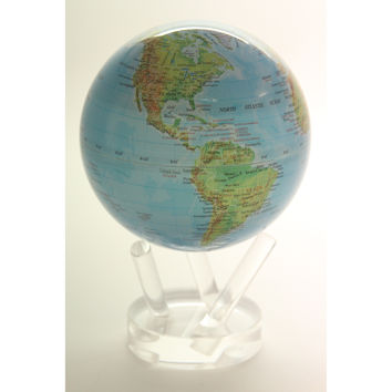 Mova Rotating Blue with Relief Map 6 in. diam. Globe