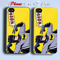 Batman Super Hero Custom iPhone 4 or 4S Case Cover