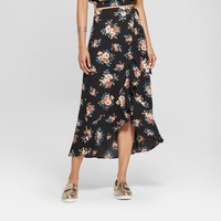 Women's Floral Print High-Low Hem Maxi Skirt - Xhilaration™
