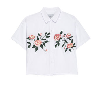 Gretta - White Floral Embroidery