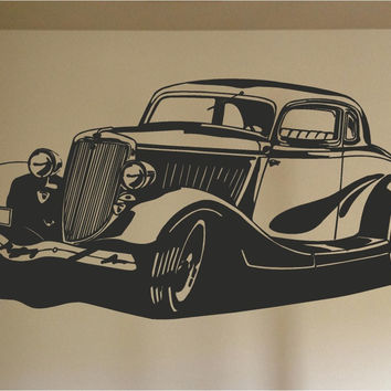 1934 Ford Car Wall Decal - Auto Wall Mural - Vinyl Stickers - Boys Room Decor