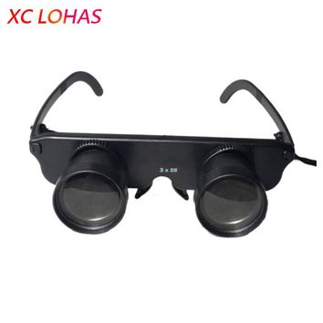 Multifunctional Fishing Glasses Telescope 3X28 Presbyopic Glasses Sunglasses Binocular Telescope for Fishing Hiking Reading