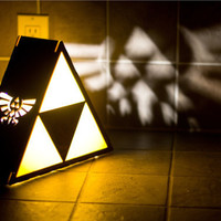 Zelda Triforce Lamp  Hyrule Crest Detail by TheBackPackShoppe