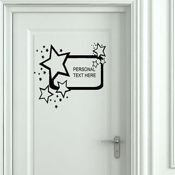 Wall Mural Vinyl Decal Sticker Sign Door Frame Personalized Text Name AL286