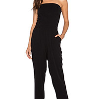 1. STATE Strapless Slim Jumpsuit in Rich Black