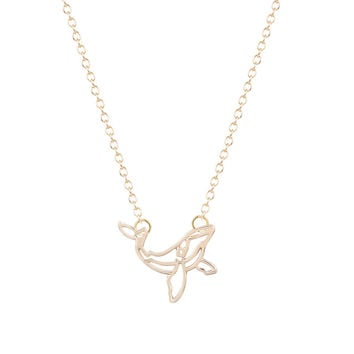 Min1pc Famous Brand Whale Necklace orca necklace nautical jewelry Women Bijoux Long pendant Necklace 2016 Fashion  wedding gift