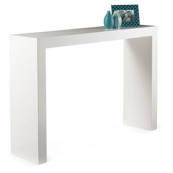 Console Cabin  Table, White Lacquer, Console Table