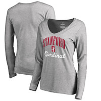 Women's Fanatics Branded Ash Stanford Cardinal Victory Script Long Sleeve T-Shirt