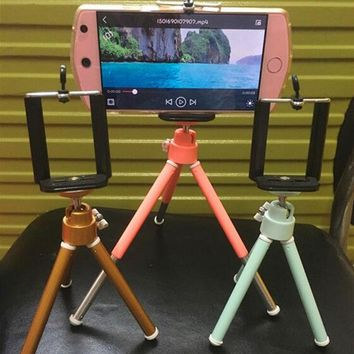 Xiamelon Colorful Fashion 2 In1 Mini Universal Stand Tripod + Phone Clip  for Gopro Camera DSLR Mobile Phone Photography