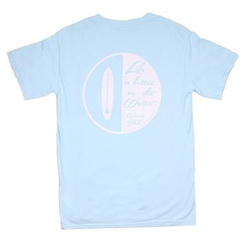 Paddle On OG Pocket Tee in Ice Blue by Waters Bluff