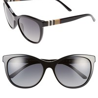 Women's Burberry 58mm Polarized Sunglasses - Black/ Grey Polar