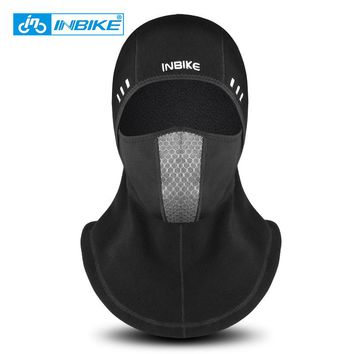 INBIKE Winter Cycling Face Mask Ski Cap Bike Face Thermal Fleece Scarf Snowboard Shield Hat Cold Headwear Bicycle Headwear