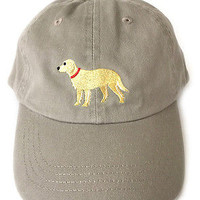 Golden Retriever embroidered baseball cap