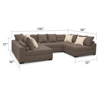 Venti Mocha 5 Pc. Sectional