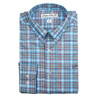 The Hadley Shirt in Blue Water Plaid by Southern Point Co. - FINAL SALE