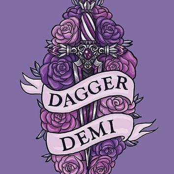 'DAGGER DEMI' Poster by foxflight