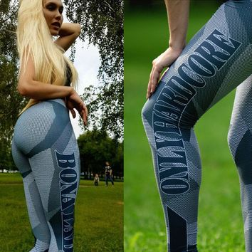 New Leggings Women Letter Print Fitness Legging Pants Female Workout Activity Legins Bodybuilding Clothes Body Shapers