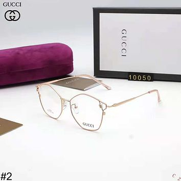 GUCCI 2018 new polygon ultra light men and women glasses frame high-end optical frame #2