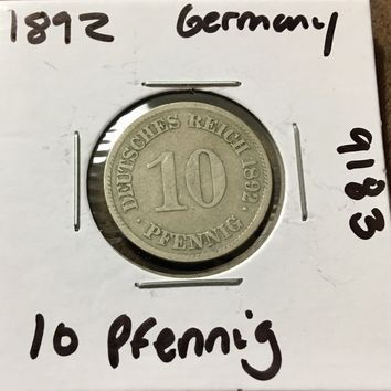 1892 German Empire 10 Pfennig 9183