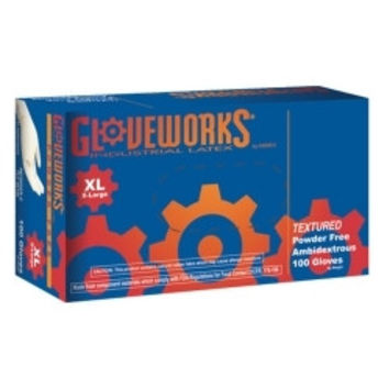 XL Gloveworks Powder Free Textured Latex Gloves