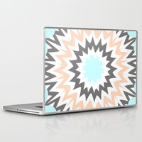 Baby Blue to Peach Laptop & iPad Skin by Abstracts by Josrick