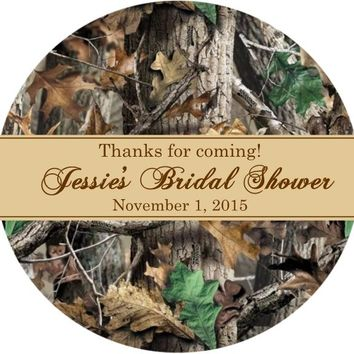Camouflage Bridal Shower Favor Tags