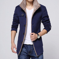 Hybrid Men's Fashion Winter Trench Coat