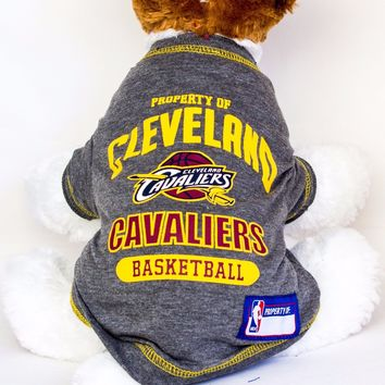 Cleveland Cavaliers Dog Shirt NBA Basketball Officially Licensed Pet Product