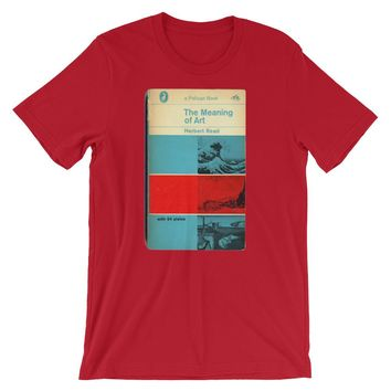 The Meaning of Art T-shirt Mid Century Graphic Design Tee 1960s Modern Art Book Cover Short-Sleeve Unisex T-Shirt