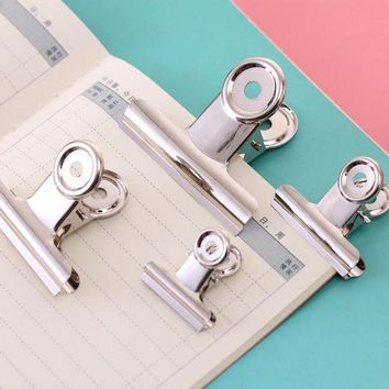 ICIK272 binder clip office paper stainless steel white metal clips sizes  29mm 36mm 50mm 61mm office & school supplies stationery
