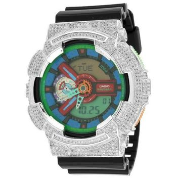 Mens GA110MC-1A Gshock Watch Iced Out Simulated Diamonds G-Shock