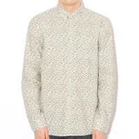 Norse Projects Emil Slub Print L/S Shirt Birch | Free UK Shipping and Returns