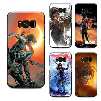 shadow of the tomb raider phone case for samsung galaxy s7 edge s6 s5 s8 s9 plus best soft Silicone black cover TPU Housing