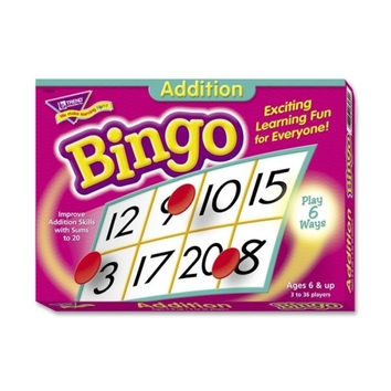 trend enterprises addition bingo game,includes 36 playing cards/over 200 chips Case of 3
