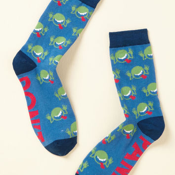 No More Mr. Nice Guide Socks | Mod Retro Vintage Socks | ModCloth.com