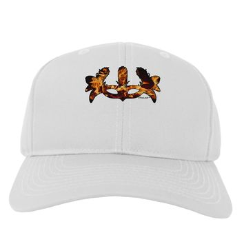 Fire Masquerade Mask Adult Baseball Cap Hat by TooLoud