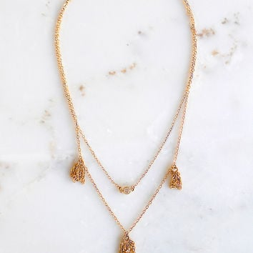 Tauri Tassel Necklace 14K Gold Fill