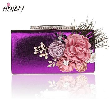 2017 Fashion Women Handbags Metal bling Shoulder Bags Ladies Print Day Clutch Party Evening Bags WY129