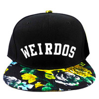 Weirdos Iris Snapback Hat in Black & Floral