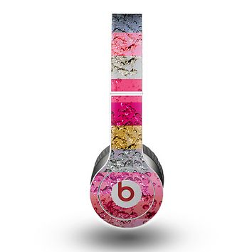 The Pink Water Stripes Skin for the Beats by Dre Original Solo-Solo HD Headphones