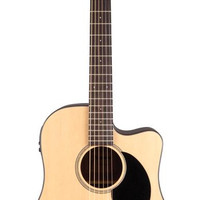 Jasmine JD39CE Acoustic-Electric Guitar Natural with Hard Case