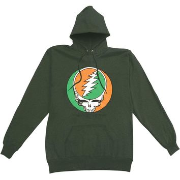 Grateful Dead Men's  Celtic Knot Green Hooded Sweatshirt Green