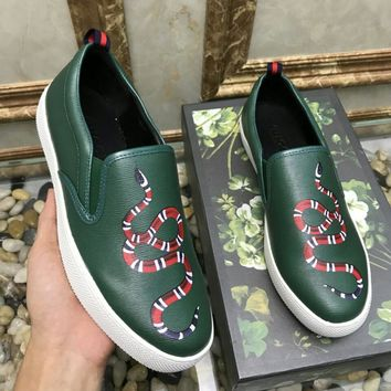 Gucci Man or Woman Fashion Pattern Casual Shoes