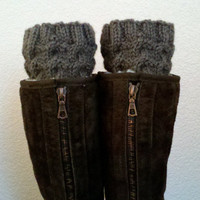 Boot cuffs / Boot tops / Short Leg warmers / Boot socks for girls, teens, women - TAUPE - (more colors available)