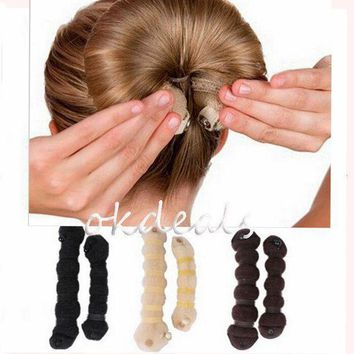 ESBONRZ 1 Set Women Girl Magic Style Hair Styling Tools Buns Braiders Curling Headwear Hair Rope Hair Band Accessories