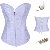 Lace Up Back Strapless Corset Top