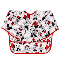 Bumkins Disney Baby Waterproof Sleeved Bib, Minnie Mouse Classic (6-24 Months)